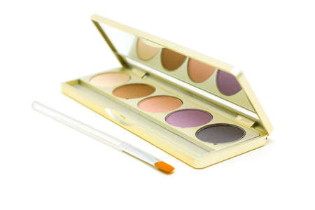 eyemakeup: Cosmetics and make-up - eyeshadow with brush isolated