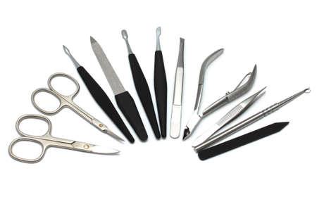 clipper: Manicure equipment - scissors, nail clipper, tweezer, file