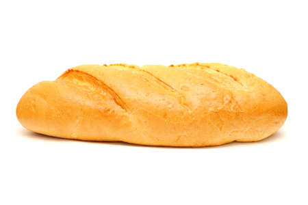 crusty: crusty tasty bread isolated on a white background Stock Photo