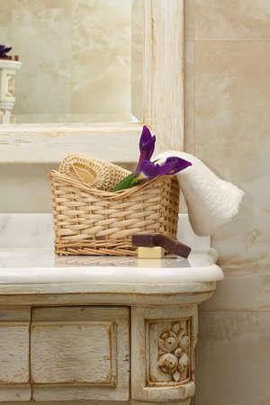 luxury bathroom: luxury bathroom interior and furniture