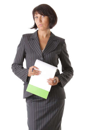Beautiful rigorous business woman Stock Photo