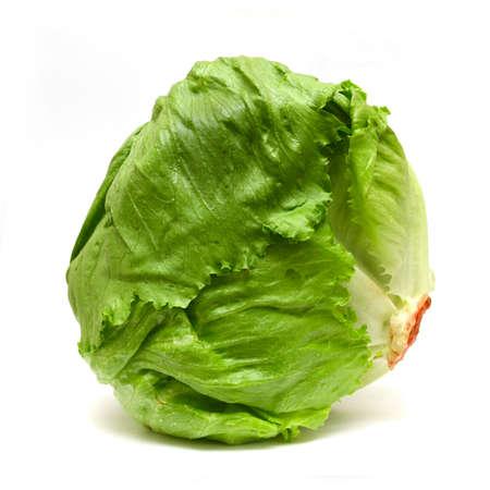 Iceberg lettuce isolated on white Stock Photo