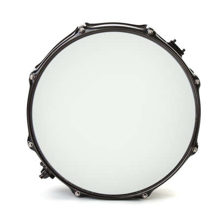drum and bass: bass drum isolated on white