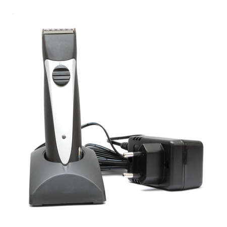 trimmer: Hair trimmer isolated on a white background Stock Photo