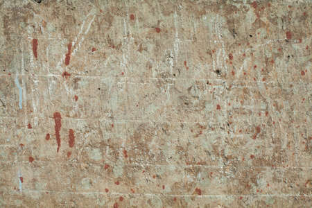Old textures wall background with red paint stain. Perfect background with space.