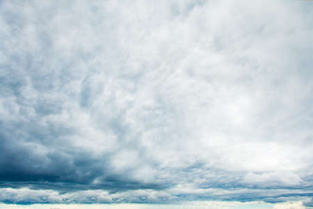 Gray sky clouds background. Beautiful landscape with clouds on sky