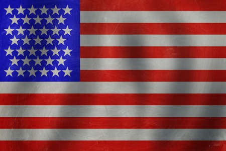 USA flag background. Travel and learn english language concept