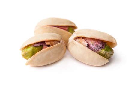 Tasty pistachio nut isolated on white background