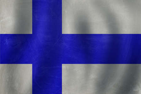 Finland concept with Finnish flag background Banco de Imagens