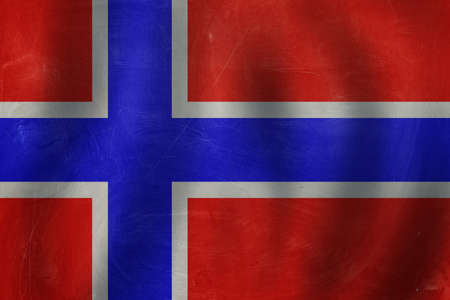 Banner with Norway flag