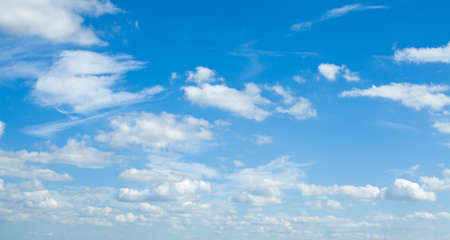 Beautiful landscape with clouds on sky