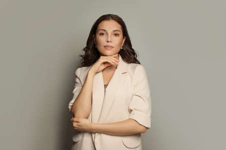 Portrait of smart successful business woman
