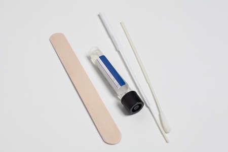 Covid-19 test kit. Medicine, health and Coronavirus concept