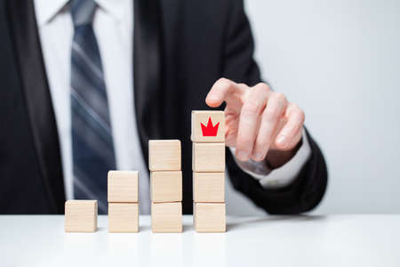 Selecting leader and building team. Business leadership and hr concept Stockfoto
