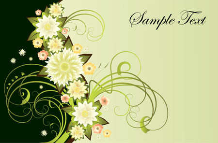Abstract composition  of flowers for congratulations Vector