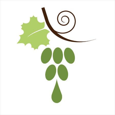 şehvet: Sign. Bunch of grapes into a wine or juice.