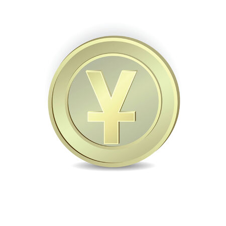 yuan: The coin with the symbol of the Chinese yuan.