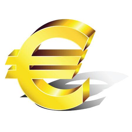 euro: Euro symbol in volume.  Illustration