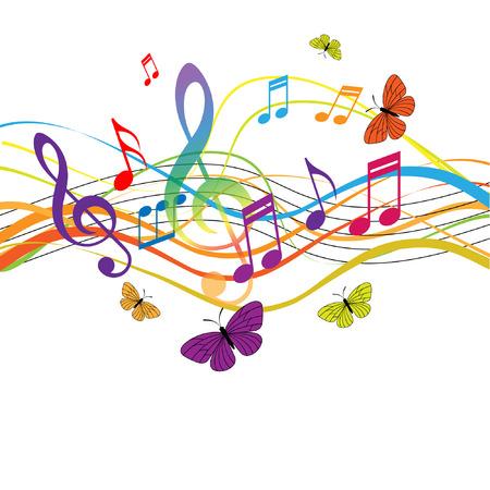 violinschl�ssel: Abstrakte Hintergrund mit Notizen und Violinschl�ssel, EPS10