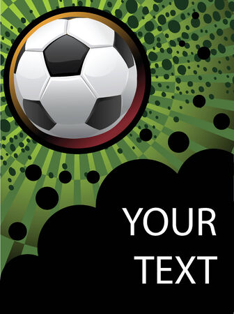 soccer coach: Football poster with for your text. Illustration