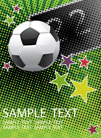white fan: Football poster with for your text.