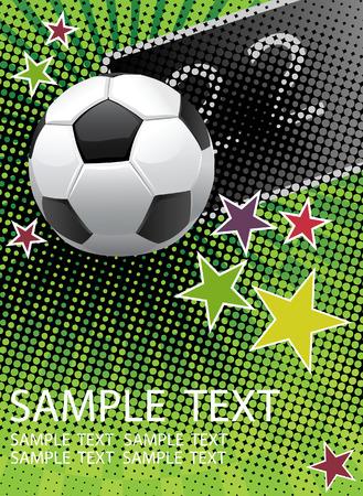 soccer stadium: P�ster de f�tbol con para el texto.