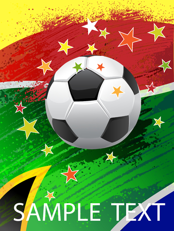 Poster for the World Cup in South Africa. Vector. Saved as EPS 10. Ilustracja