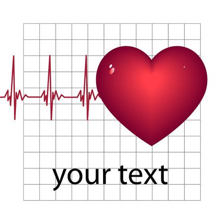 Herzkrankheit: Ein abstrakt Arrangement mit dem Herzen, kardiale