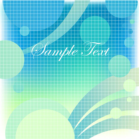 Abstract composition, light blue with a mesh background Vector