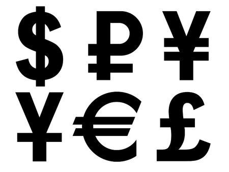 A set of Currency Symbols Stock Vector - 7442282