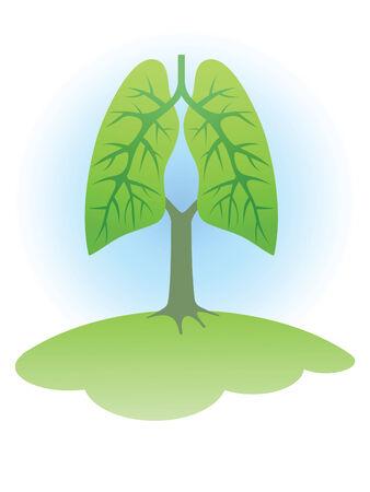 saubere luft: Symbol: B�ume - die Lungen des Planeten.