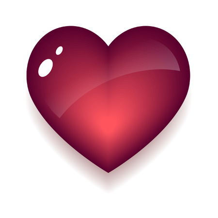 The symbol - a red heart Stock Vector - 7694840