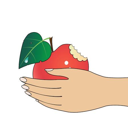 big toe: Apple in hand.