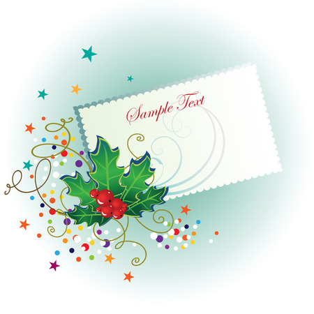 Card with an abstract background for the holiday Christmas with space for text. Vector