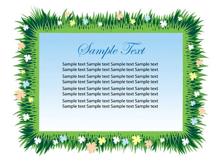 Grass-frame with space for text.  Vector