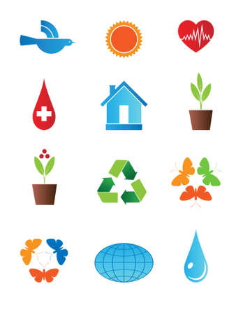 set of characters on the theme of peace and ecology.  Stock Vector - 8155259