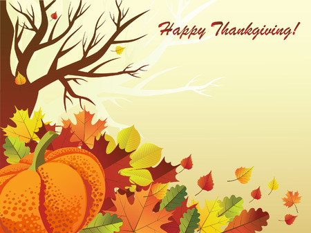 annually:  illustration of thanksgiving day background Illustration