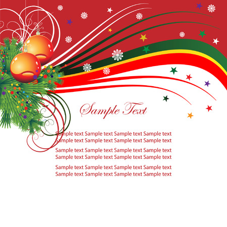 for: Abstract background for the holiday Christmas with music and Christmas tree branches.