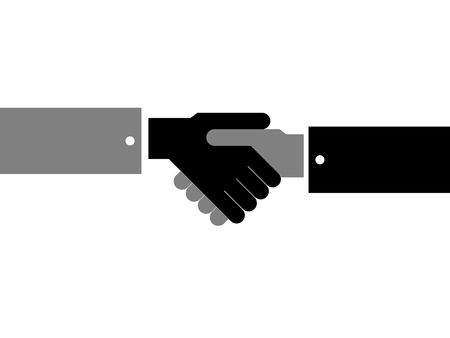 Abstract sign handshake of friendship and cooperation. Иллюстрация