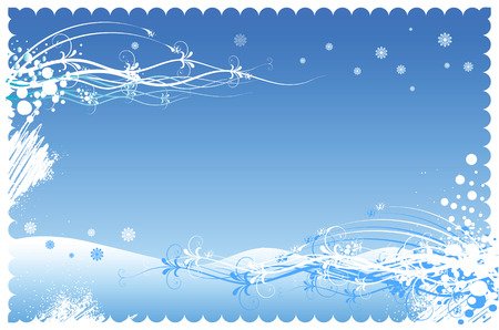 Winter background to the Christmas and New Year! Vector