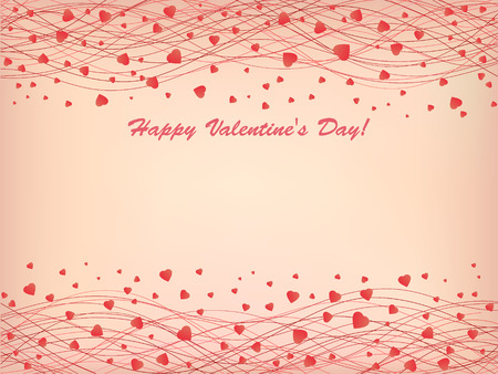 holidays for couples: Composition with pink hearts on a pink background.