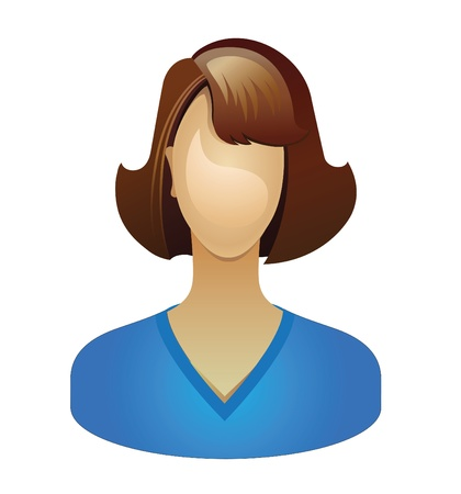 anonymity: The girls picture can be used to the icon. Vector.