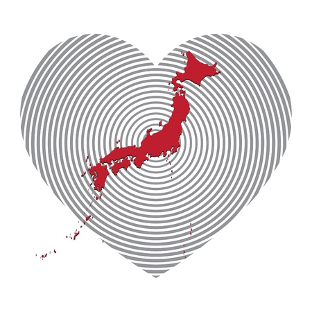symbol for Japanese assistance in combating the effects of the tsunami. Vector