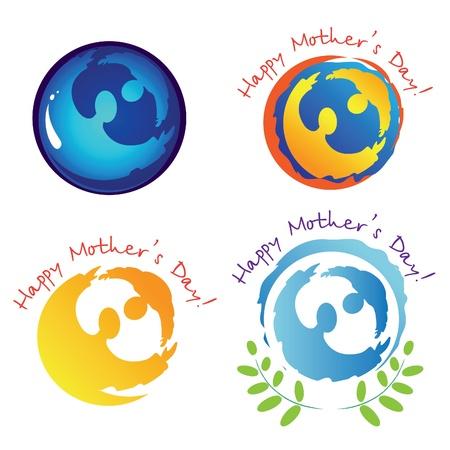 respeto: Conjunto de signos y s�mbolos para el d�a de la madre.