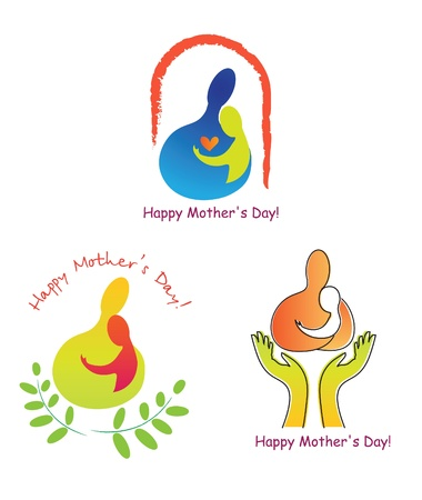 resilient: A set of signs and symbols for Mothers Day Illustration