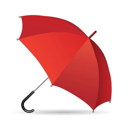 Illustration of a red umbrella - a symbol of protection and conservation. Ilustracja