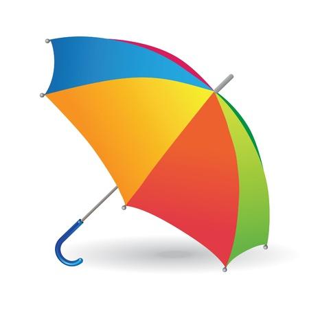 Multicolored umbrella-cane - a symbol of summer and holidays. Vector