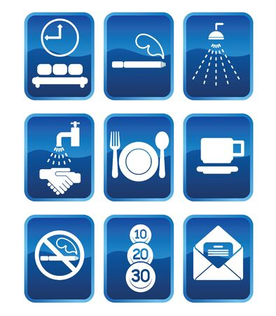 Set of icons and icons with symbols of services (05) Stock Vector - 9719253
