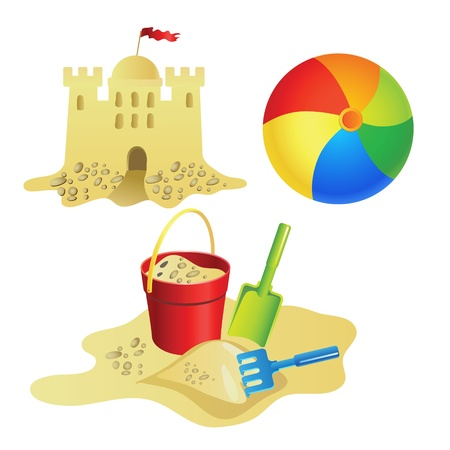 Set for summer recreation for children. Vector