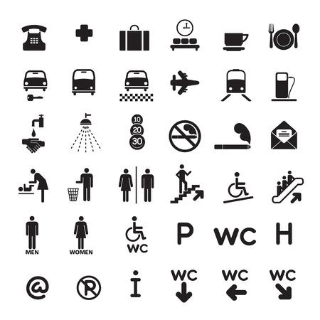 szynach: Zestaw 36 czarny ikony czarny.